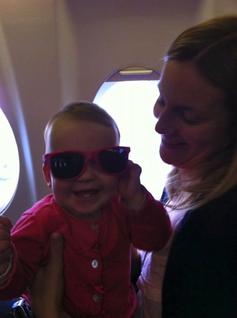Pilotenbrille auf